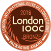 London International Olive Oil Competitions 2018 Packaging Label Bronze Packaging Award